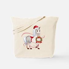 Peace on Earth Christmas Horse Tote Bag
