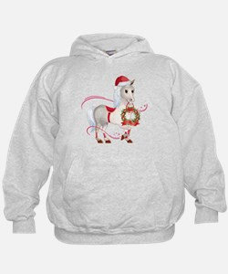 Peace on Earth Christmas Horse Hoodie