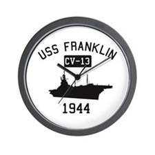 USS Franklin 1 Wall Clock