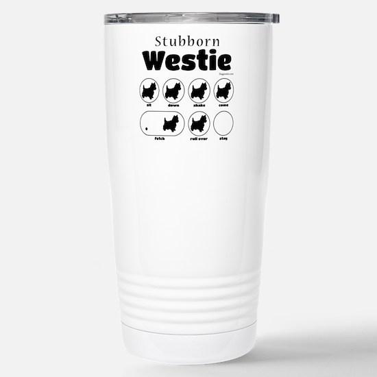 Stubborn Westie v2 Stainless Steel Travel Mug