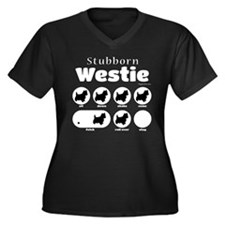 Stubborn Wes Women's Plus Size V-Neck Dark T-Shirt