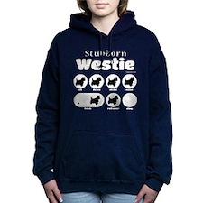 Stubborn Westie v2 Women's Hooded Sweatshirt