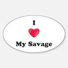 I Love My Savage Decal