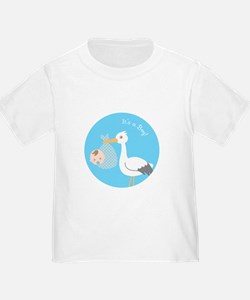 Stork Delivery of Cute Baby Boy T-Shirt