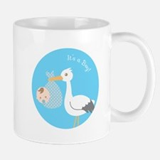 Stork Delivery of Cute Baby Boy Mugs