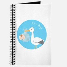 Stork Delivery of Cute Baby Boy Journal