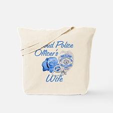 Blue Rose Police Wife Tote Bag