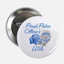 Blue Rose Police Wife Button