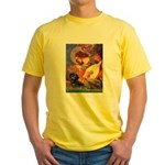 Mandolin Angel & Doxie (BT) Yellow T-Shirt