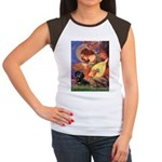 Mandolin Angel & Doxie (BT) Women's Cap Sleeve T-S