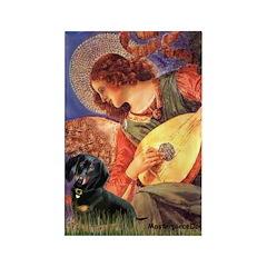 Mandolin Angel & Doxie (BT) Rectangle Magnet (10 p