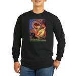 Mandolin Angel & Doxie (BT) Long Sleeve Dark T-Shi