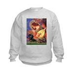Mandolin Angel & Doxie (BT) Kids Sweatshirt