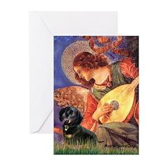 Mandolin Angel & Doxie (BT) Greeting Cards (Pk of
