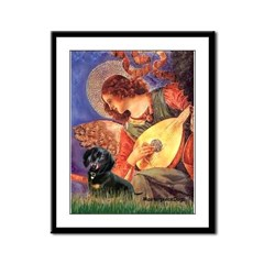 Mandolin Angel & Doxie (BT) Framed Panel Print