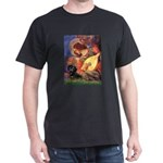 Mandolin Angel & Doxie (BT) Dark T-Shirt