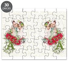 Monogram A Christmas Couple Puzzle