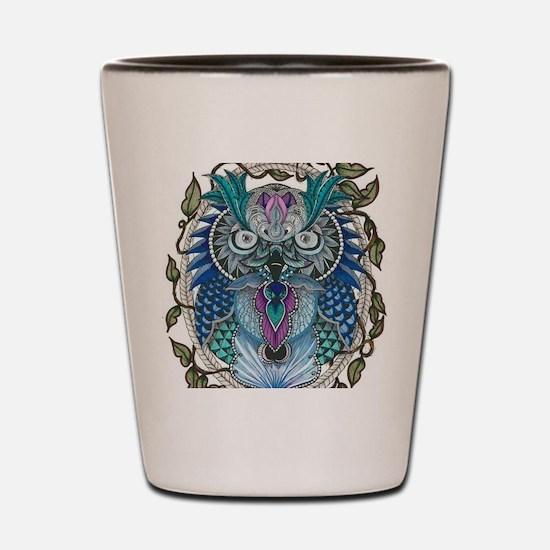midnight Owl Shot Glass