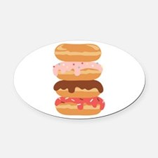 Sweet Donuts Oval Car Magnet