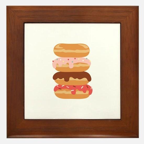 Sweet Donuts Framed Tile