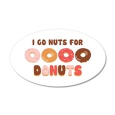 Go Nuts for Donuts Wall Decal