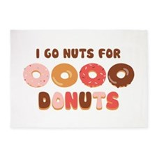 Go Nuts for Donuts 5'x7'Area Rug