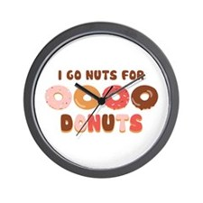 Go Nuts for Donuts Wall Clock
