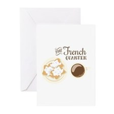 The French Quarter Beignets Greeting Cards