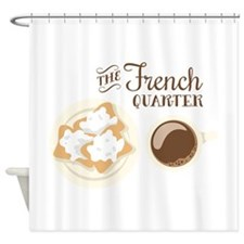 The French Quarter Beignets Shower Curtain