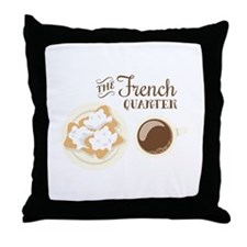 The French Quarter Beignets Throw Pillow
