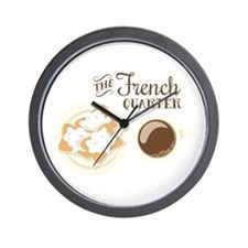 The French Quarter Beignets Wall Clock