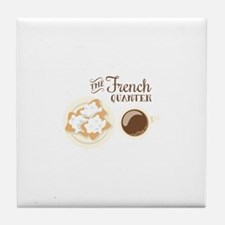 The French Quarter Beignets Tile Coaster