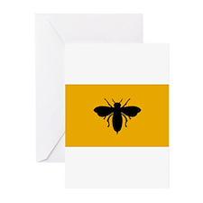 capblack-beekeeper-stencil Greeting Cards