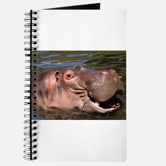 Happy African Hippo in water Journal