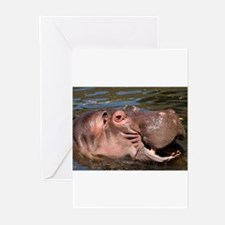 Happy Hippo Greeting Cards