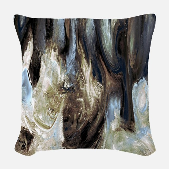 Variation 37 Woven Throw Pillow