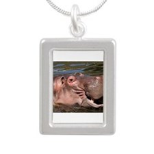 Happy African Hippo in water Necklaces
