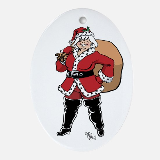 Mamma Claus Ornament (oval)