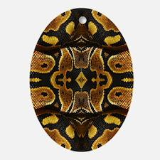Ball Python Ornament (Oval)