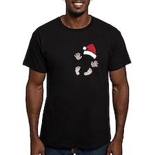 Santas Little Surprise Baby Hands and Feet T-Shirt