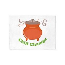 Chili Champs 5'x7'Area Rug