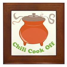 Chili Cook Off Framed Tile