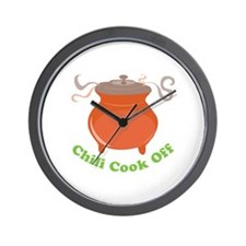 Chili Cook Off Wall Clock
