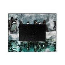Penguins on ice Picture Frame