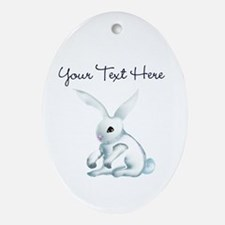 Your Text Here Honey Bunny Ornament (Oval)