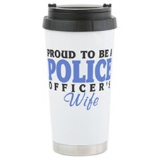 Unique Cop Stainless Steel Travel Mug