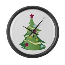 Christmas Tree Large Wall Clock