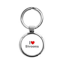 Shrooms Round Keychain