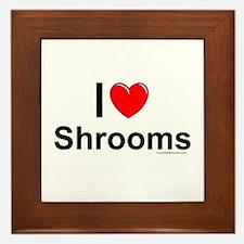 Shrooms Framed Tile