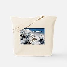 Alaska Range mountains, Alaska, USA (capt Tote Bag